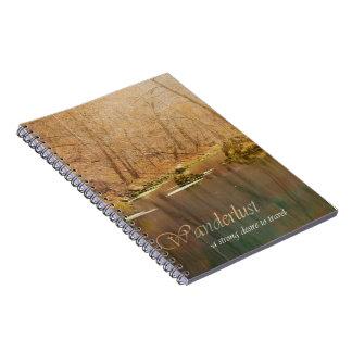 Wanderlust-Notizbuch Spiral Notizblock