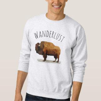 WANDERLUST Sweatshirt: Amerikanischer Büffel Sweatshirt