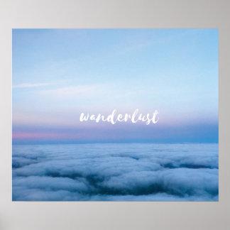Wanderlust-Wand Artq Poster