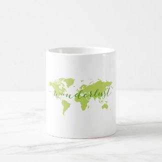 Wanderlust, Weltkarte Kaffeetasse