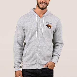 WANDERLUST ZipHoodie: Amerikanischer Büffel Hoodie