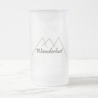 Wanderlustkaffee-Tasse Mattglas Bierglas