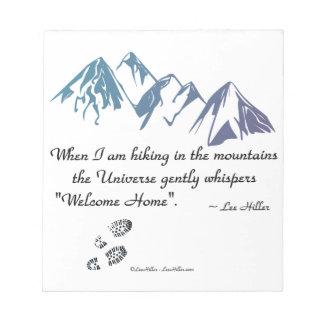 Wandern Berguniversum-Flüstern willkommenen Notizblock