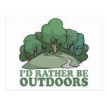 Wandern, Camping, Trekking, draußen kletternd! Postkarte
