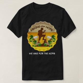 Wandern für Hopfen dunkles T-Shirt u.