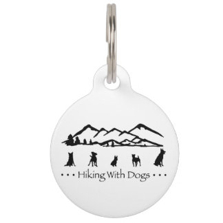 Wandern mit Hundehinterumbau Hundemarke