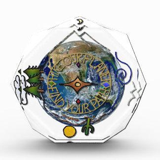 Wandern Sie das Soul-Kompass-Erde unseres Acryl Auszeichnung