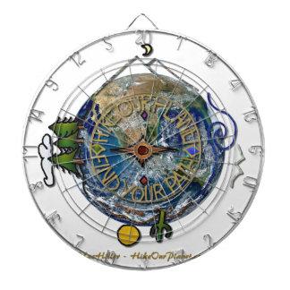 Wandern Sie das Soul-Kompass-Erde unseres Dartscheibe