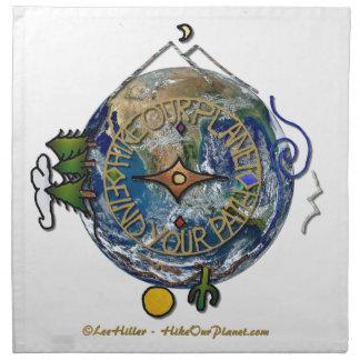 Wandern Sie das Soul-Kompass-Erde unseres Serviette