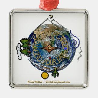 Wandern Sie das Soul-Kompass-Erde unseres Silbernes Ornament