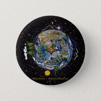 Wandern Sie das Soul-Kompass-Raum unseres Runder Button 5,7 Cm