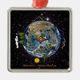 Wandern Sie das Soul-Kompass-Raum unseres Silbernes Ornament