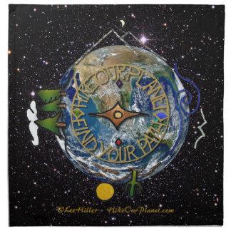 Wandern Sie das Soul-Kompass-Raum unseres Stoffserviette
