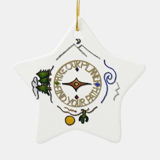 Wandern Sie das Soul-Kompass unseres Keramik Ornament