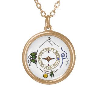 Wandern Sie das Soul-Kompass unseres Vergoldete Kette