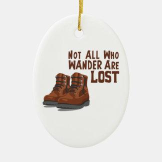 Wandern Sie verloren Keramik Ornament