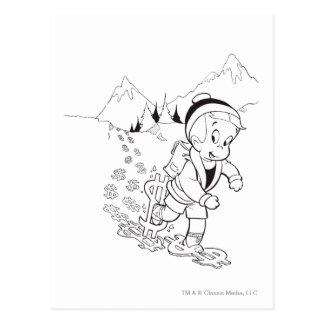 Wandernde Richie Reiche - B&W Postkarte