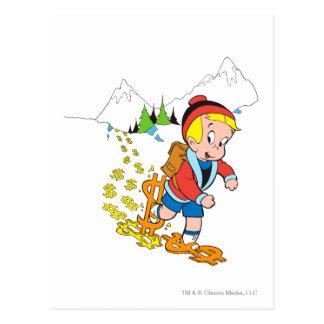 Wandernde Richie Reiche - Farbe Postkarte