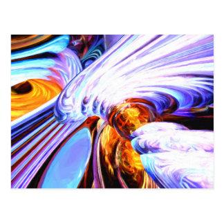 Wandernder Helix abstrakt gemalt Postkarte