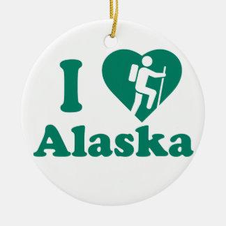 Wanderung Alaska Keramik Ornament