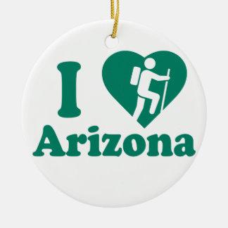 Wanderung Arizona Rundes Keramik Ornament