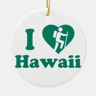 Wanderung Hawaii Keramik Ornament