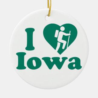 Wanderung Iowa Keramik Ornament