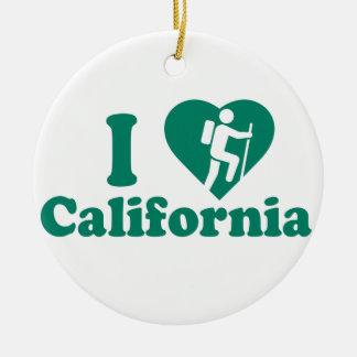 Wanderung Kalifornien Rundes Keramik Ornament