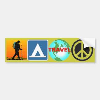 Wanderung, Lager, Reise, Frieden Autoaufkleber