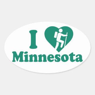 Wanderung Minnesota Ovaler Aufkleber