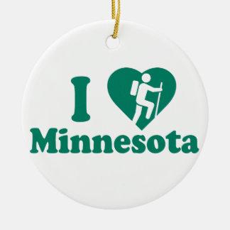 Wanderung Minnesota Rundes Keramik Ornament