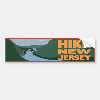 Wanderung New-Jersey - Aufkleber Autoaufkleber