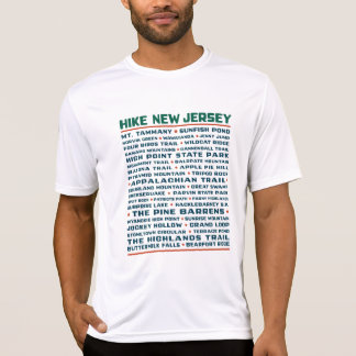 Wanderung New-Jersey (Spuren) - Wicking T-Shirt