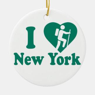 Wanderung New York Keramik Ornament