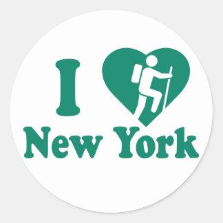 Wanderung New York Runder Aufkleber