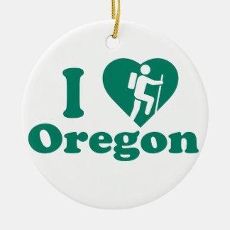 Wanderung Oregon Rundes Keramik Ornament