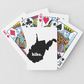 Wanderung West Virginia Bicycle Spielkarten