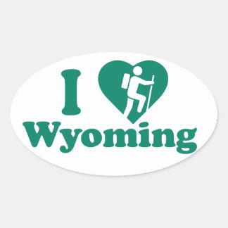 Wanderung Wyoming Ovaler Aufkleber