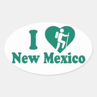 Wanderungs-New Mexiko Ovaler Aufkleber