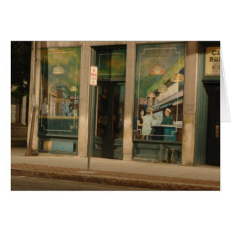 Wandgemälde auf Clark-Gebäude, Greenfield MA Karte