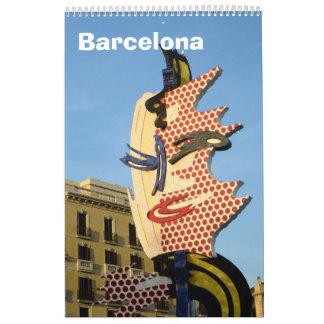 Wandkalender 12-monatigen Barcelonas, Spanien