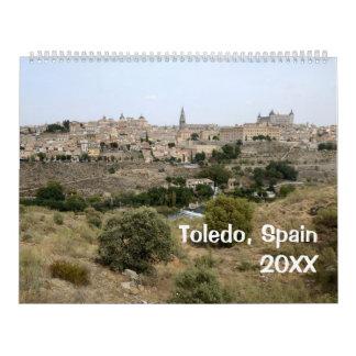 Wandkalender 12-monatigen Toledos, Spanien