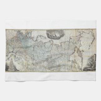 Wandkarte 1787 des russischen Reiches Geschirrtuch
