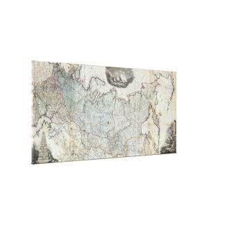 Wandkarte 1787 des russischen Reiches Leinwanddruck