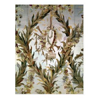 Wandseide des Schlafzimmers der Kaiserinnen, 1787 Postkarte