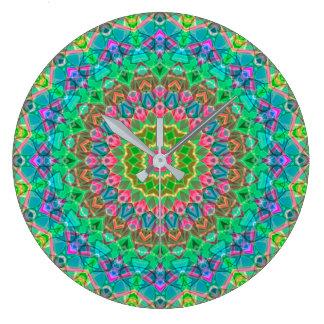 Wanduhr-geometrische Mandala G18 Große Wanduhr