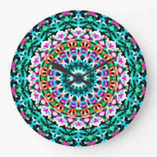 Wanduhr-geometrische Mandala G405 Große Wanduhr