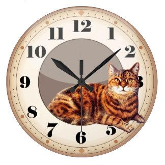 Wanduhr-intelligentes Katzen-Lügen Wanduhren