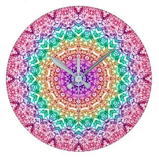 Wanduhr-Mandala Mehndi Art G379 Große Wanduhr