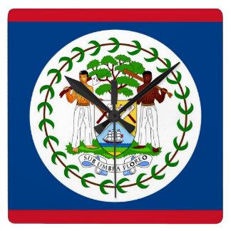 Wanduhr mit Flagge von Belize